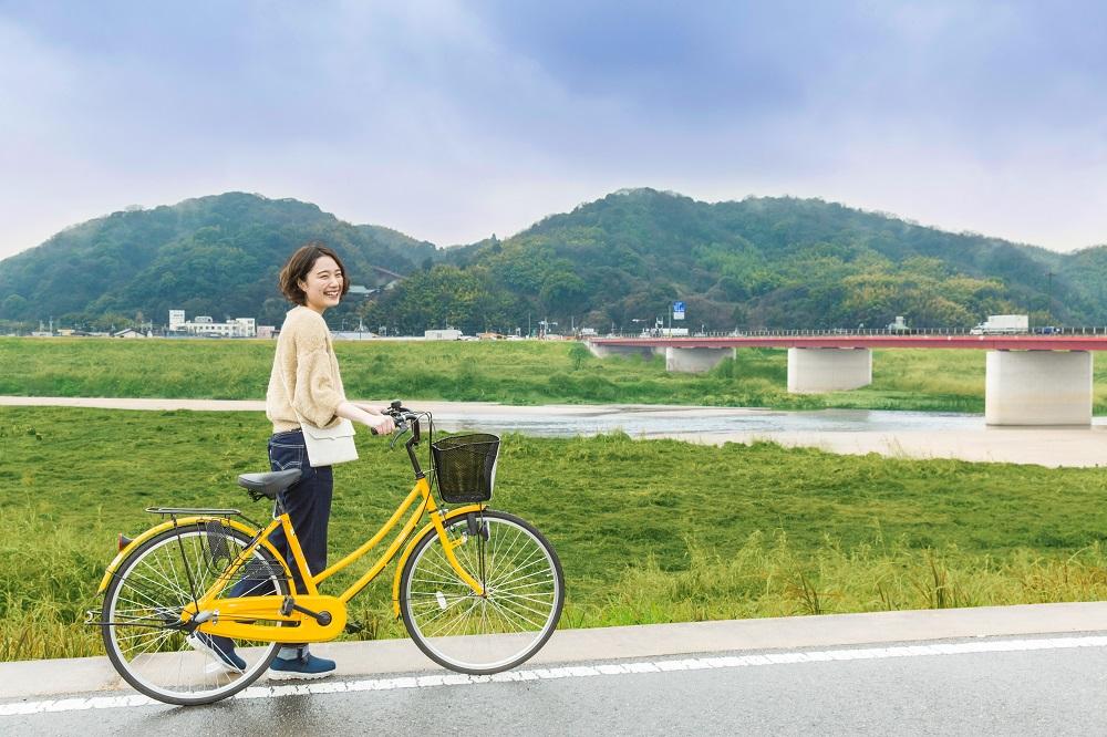 はちまんさんのまちから始めるリバーサイドサイクリング