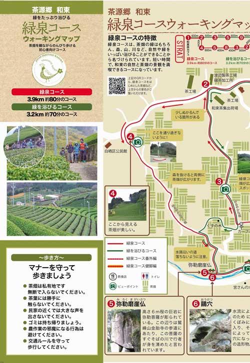 緑泉コースウォーキングマップ
