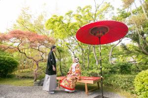 松花堂庭園:青もみじ8